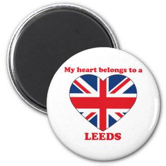 Leeds 2 Inch Round Magnet