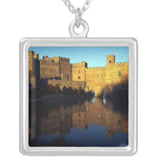 Leeds Castle, 12th c., Norman stronghold and Silver Plated Necklace