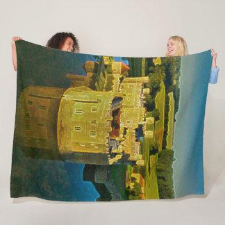 Leeds Castle, England Acrylic Art Fleece Blanket