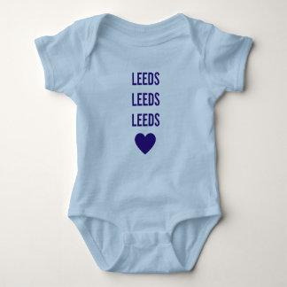 LEEDS LEEDS LEEDS LUFC Personalised Blue Babygrow Baby Bodysuit