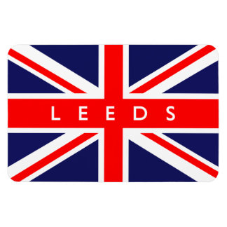 Leeds UK Flag Rectangular Photo Magnet