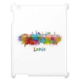 Leeds V2 skyline in watercolor Cover For The iPad 2 3 4