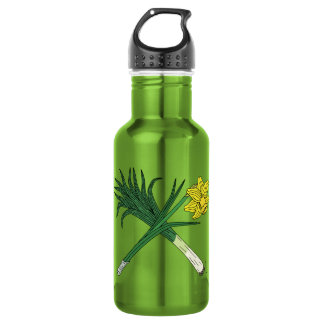 Leek and Daffodil Crossed 532 Ml Water Bottle
