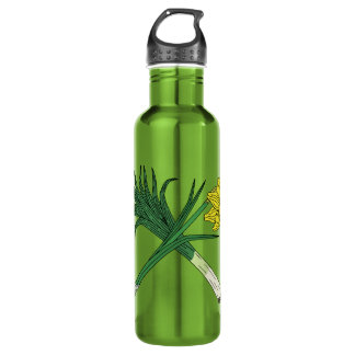 Leek and Daffodil Crossed 710 Ml Water Bottle