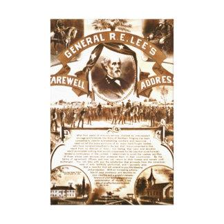 Lee's Farewell Address 1865 Canvas Print