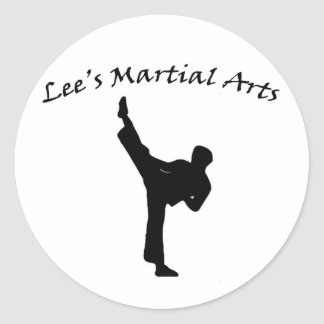 Lee's Martial Arts sticker