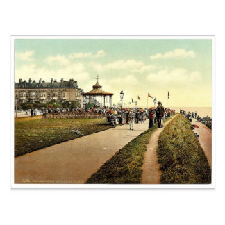 Lee's Promenade and Bandstand, Folkestone, England Postcard