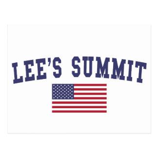 Lee's Summit US Flag Postcard