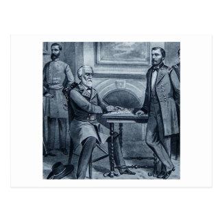 Lee's Surrender at Appomattox 1865 Vintage Postcard
