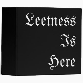 Leetness Is Here. Vinyl Binders