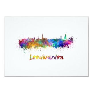 Leeuwarden skyline in watercolor card