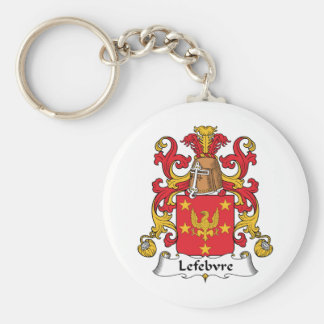 Lefebvre Family Crest Keychain