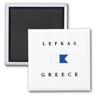 Lefkas Greece Alpha Dive Flag Magnet