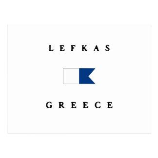 Lefkas Greece Alpha Dive Flag Postcard
