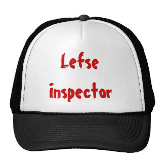 Lefse Inspector Trucker Hats