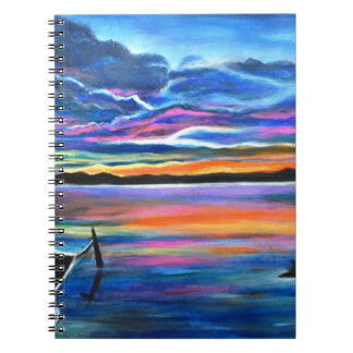 Left alone a seascape boat painting notebook