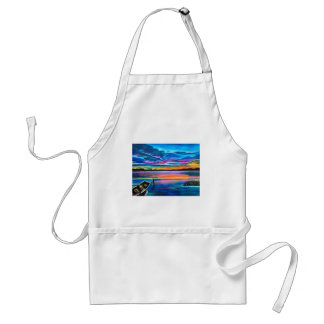 Left alone a seascape boat painting standard apron