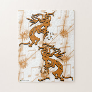 Left and Right Facing Kokopelli Musician Puzzle