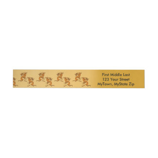 Left and Right Facing Kokopelli Musician Wraparound Address Label