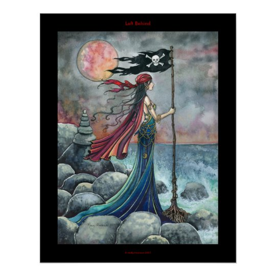 Left behind Gothic Pirate Poster Fantasy Art