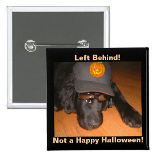 Left Behind This Halloween 2 Inch Square Button