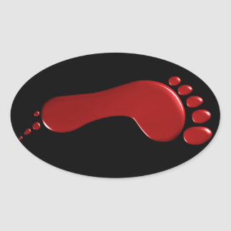 Left Bloody Footprint Sticker