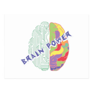 Left Brain Postcard