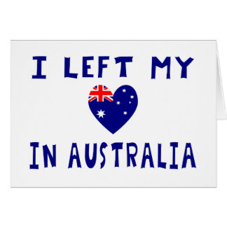 Left heart Australia Card