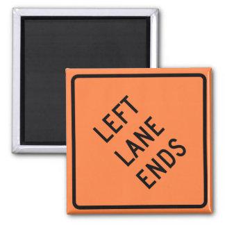 Left Lane Ends Construction Highway Sign Magnet