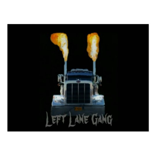 Left Lane Gang Postcard