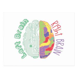 Left & Right Brain Postcard