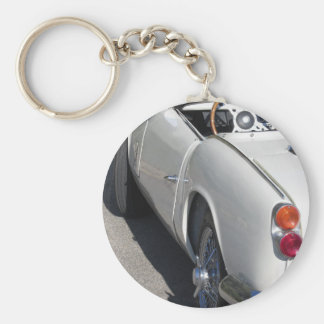 Left side of an old british classic car keychain