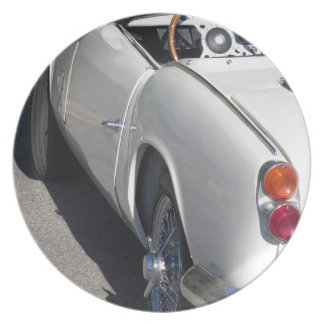 Left side of an old british classic car plate