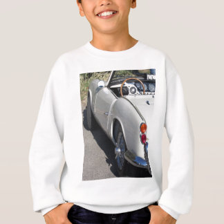 Left side of an old british classic car sweatshirt