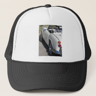 Left side of an old british classic car trucker hat