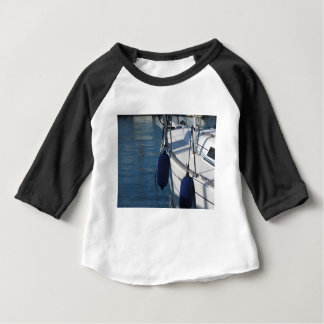 Left side of sailing boat with two blue fenders baby T-Shirt