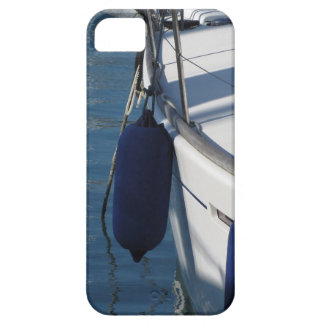 Left side of sailing boat with two blue fenders iPhone 5 cases