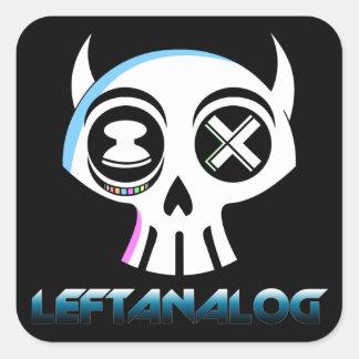 LeftAnalog Text StickerSheet Square Sticker
