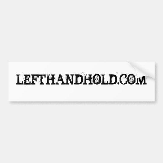LEFTHANDHOLD.COM BUMPER STICKER