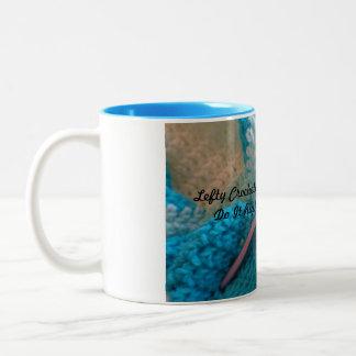 Lefties Mug - Left-handed crocheters coffee mug