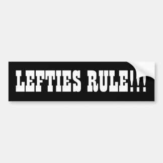 LEFTIES RULE!!! BUMPER STICKER