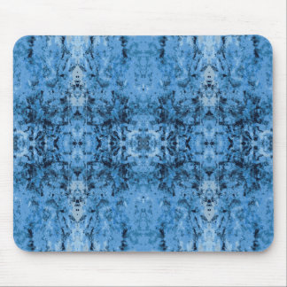 'Leftovers' Blue Pattern Mouse Pad