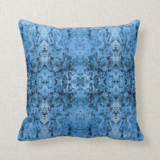 'Leftovers' Blue Pattern Throw Pillow