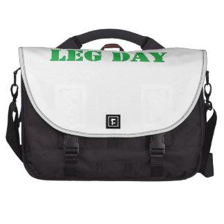 leg day green laptop bags