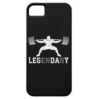 Leg Day - Legendary - Squat - Gym Inspirational Case For The iPhone 5