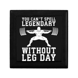 Leg Day - Legendary - Squat - Gym Inspirational Gift Box