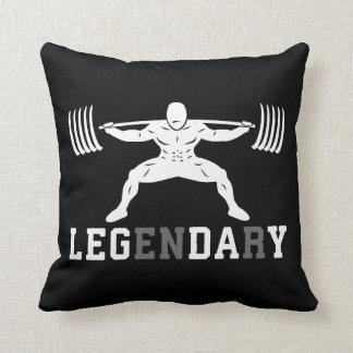 Leg Day - Legendary - Squat - Gym Inspirational Throw Pillow