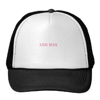 leg day pink mesh hat