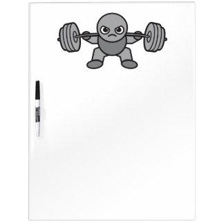 Leg Day - Squat - Kawaii Weightlifter Dry Erase Board