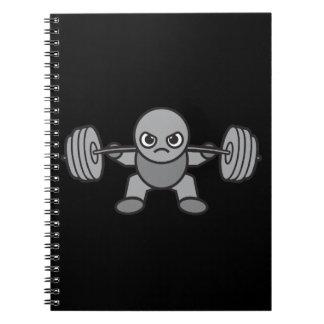 Leg Day - Squat - Kawaii Weightlifter Spiral Notebook